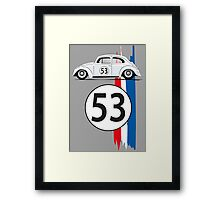 VW Beetle Herbie Framed Print