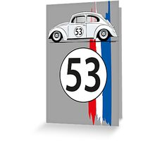VW Beetle Herbie Greeting Card