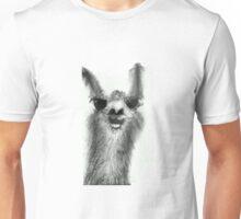 Centrally-Located Llama Unisex T-Shirt