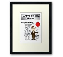 A Doctor Who/Cyberman Birthday Card Framed Print