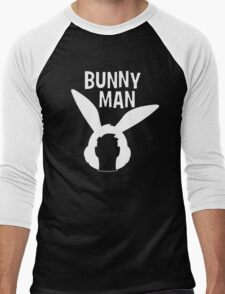 "Official ""Bunny Man"" Logo Tshirt in White Men's Baseball ¾ T-Shirt"