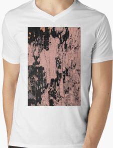 Grunge Pink and Black abstraction Mens V-Neck T-Shirt