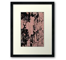 Grunge Pink and Black abstraction Framed Print