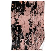 Grunge Pink and Black abstraction Poster