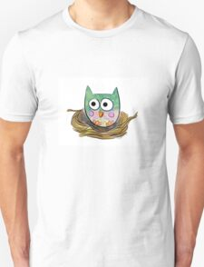 Owl in Nest Unisex T-Shirt
