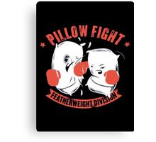 pillow fight feather weight division Canvas Print