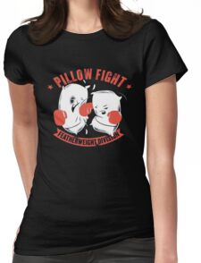 pillow fight feather weight division Womens Fitted T-Shirt