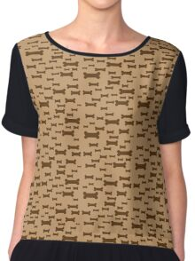Dog biscuits on brown Chiffon Top