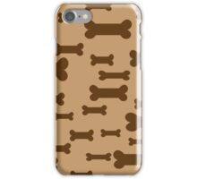 Dog biscuits on brown iPhone Case/Skin