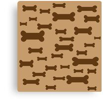 Dog biscuits on brown Canvas Print