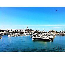 """Where The Boats Sleep"" Photo / Digital Painting  Photographic Print"