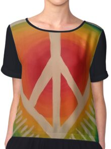 Peace, Love and Happiness Chiffon Top