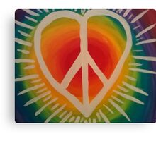 Peace, Love and Happiness Canvas Print