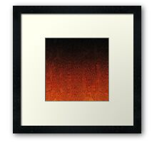 Orange & Black Glitter Gradient Framed Print