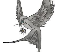 Bird with Daisy design - Skarlett Designs by Skarlettdesigns