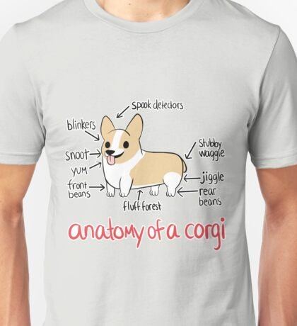 Anatomy of a Corgi Unisex T-Shirt