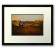 Orange roads of Maharashtra Framed Print
