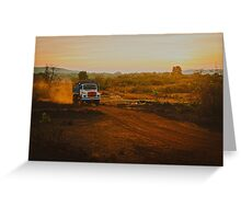 Orange roads of Maharashtra Greeting Card