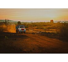 Orange roads of Maharashtra Photographic Print