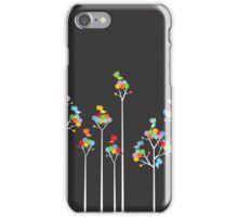 Colorful Tweet Birds On White Branches iPhone Case/Skin