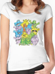 Real 'lil' Monsters Women's Fitted Scoop T-Shirt