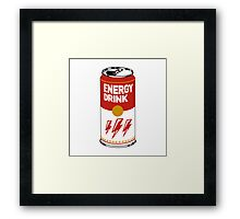 Campbell's energy drink Framed Print