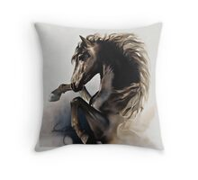 """Black Fury"" Throw Pillow"