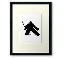Hockey goalie Framed Print