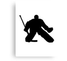 Hockey goalie Canvas Print