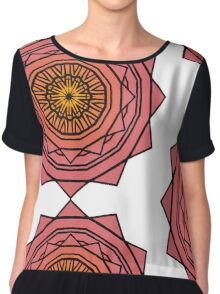 Sunny Kaleidoscope in Pink and Yellow Chiffon Top