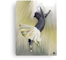 Les Pointes, Lil Grey in Yellow Canvas Print