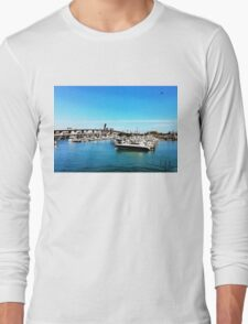 """Where The Boats Sleep"" Photo / Digital Painting  Long Sleeve T-Shirt"