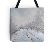 Snow Scene at Argenteuil by Claude Monet Tote Bag