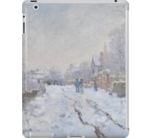 Snow Scene at Argenteuil by Claude Monet iPad Case/Skin