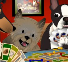 Dogs Playing Settlers of Catan Sticker
