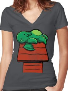 Cthuloopy Women's Fitted V-Neck T-Shirt