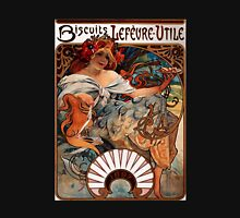 'Biscuits Lefevre-Utile' by Alphonse Mucha (Reproduction) Womens Fitted T-Shirt