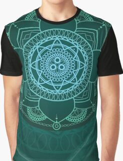Green Mandala Graphic T-Shirt