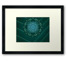 Green Mandala Framed Print