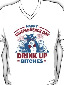4th of July Tank Top - Drink Up Bitches T-Shirt