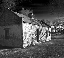 Slave Cabins - Melrose Plantation by Mike Capone
