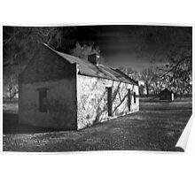 Slave Cabins - Melrose Plantation Poster