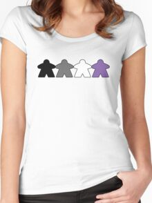 Asexual Pride (Minimal Meeple Edition) Women's Fitted Scoop T-Shirt