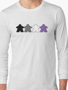 Asexual Pride (Minimal Meeple Edition) Long Sleeve T-Shirt
