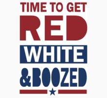 4th of July Tank Top - Red White and Boozed by 785Tees