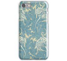 William Morris Tulip furnishing fabric in Blue iPhone Case/Skin