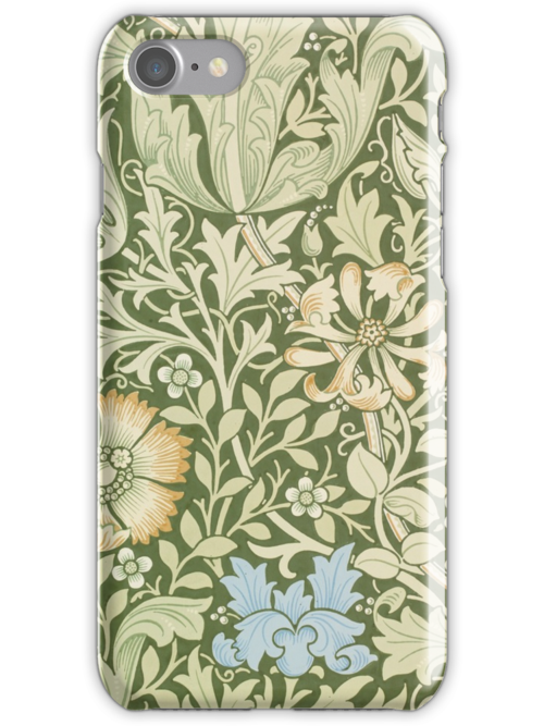 William Morris Floral Pattern - Compton wallpaper by cinn