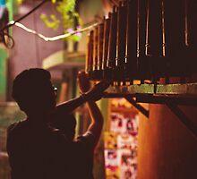 Praying wheels in sidestreets by Anna Alferova