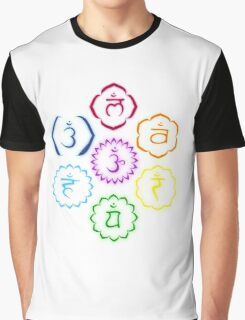 The 7 Main Chakras in a Circle Graphic T-Shirt