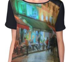 Paris Night Chiffon Top